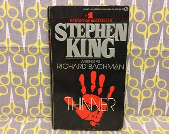 Thinner by Stephen King Paperback Book Horror Richard Bachman