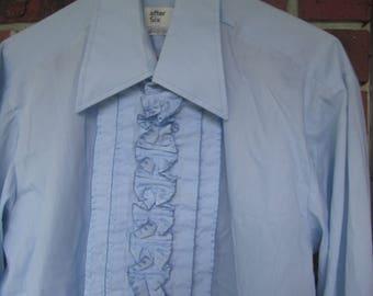 After Six   Men baby blue Tuxedo Shirt  -  15  1/2  x 32