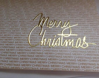 Christmas card Merry Christmas unused+env