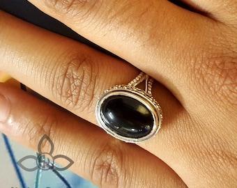 Black Onyx Ring, Black Onyx Gemstone, Black Onyx Jewellery, Onyx RIng, 925 Sterling Silver, Handamde Ring, 925 Sterling SIlver, Fine Silver