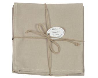 "Set of 6 napkins 40x40cm ""Pastel linen"" fabric"