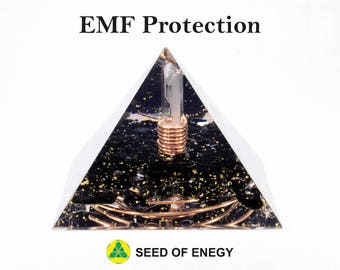 EMF PROTECTION Large Orgone Pyramid - to protect You from EMF. Made with love by Reiki healer.
