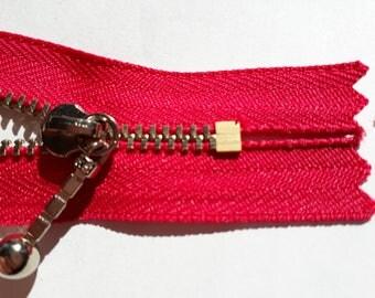 PINK dark m3 indivisible vintage zipper metal teeth size 3 (817 YKK) zipper молния cerniera cipzár fermuar fermeture éclair רוכסן