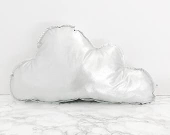 Metallic Silver Cloud Cushion