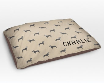 Personalized Pitbull Dog Bed, Dog Beds, Large Pet Bed, Cute Pit bull Dog Duvet, Custom Name Dog Bed Pillow, Dog Gifts for dog