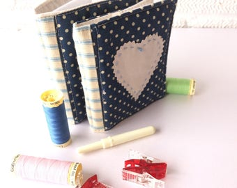 Needlebook, Denim Dots Needle holders, Sewing accessories, Needle Storage, Gifts for Sewer, Secret Santa