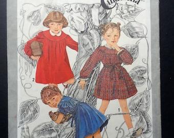 Simplicity 9610, Cinderella Dress, Child's Button Back Dress, Size 3