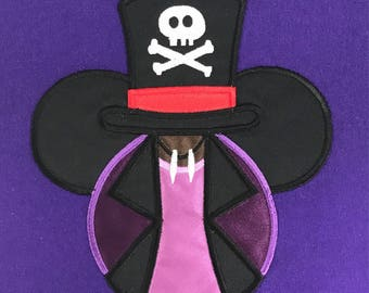 DR FACILIER Villain Mouse Head Inspired by Princess and the Frog Embroidery Appliqué T-Shirt for Children and Adults