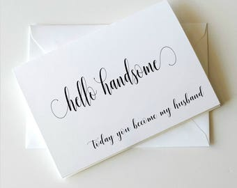 To my Groom on our wedding day Card, To my Groom Card, Wedding Day Card Groom _ Simplicity Collection_ HON02