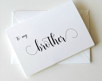 To My Brother On Wedding Day Card BrotherBrother