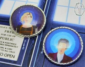 Doctor Who Brooch - 1º, 12º & 13º Regenerations! Whovian Collection~
