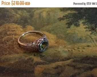 """SUMMER SALE 75% Off 70 Percent Off Coupon: """"MLK70"""" Peridot Size 6 Ring Gemstone. 925 Sterling  Silver"""