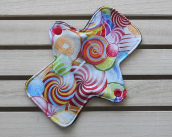 Cloth Sanitary Pad - Cloth Panty Liner - Cotton Jersey Sweetie Print - SECONDS