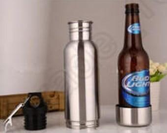 Personalized Bottle Holder   Beer Bottle Holder   Stainless Steel Bottle Holder   Gift for Dad, Gift for Him, Beer Lover Gift, BottleKeeper