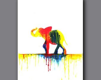 Modern Drip Art Painting Print