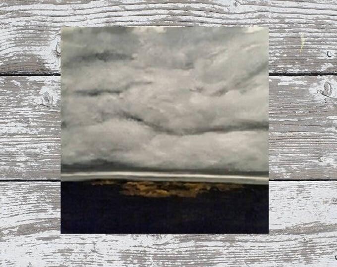October  - Oil Painting - Minimalist