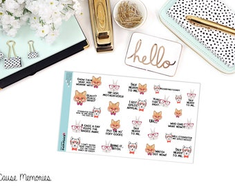 "SNARK SERIES: ""Talk Nerdy To Me"" Paper Planner Stickers!"