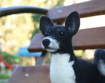 Custom Made Dog. Realistic Felted Dog. Needle Felted Dog. Needle Felted Animal. Soft Sculpture.Felted Animal.Made to order.
