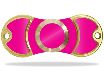 MightySkins Protective Vinyl Skin Decal for EDC Fidget Spinner Hand Spinner Toy Amilife Outdoo wrap cover sticker Solid Hot Pink