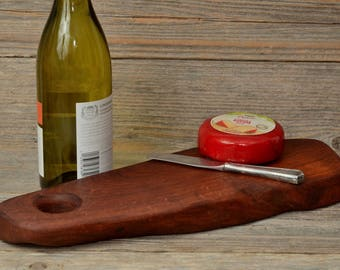 MESQUITE CHEESE BOARD-A Solid Mesquite, Handcrafted Cheese/Cutting Board.