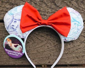 Little Mermaid ears, Ariel ears, Princess Ariel, Disney ears, Custom ears, Minnie Mouse ears, Mickey Mouse ears