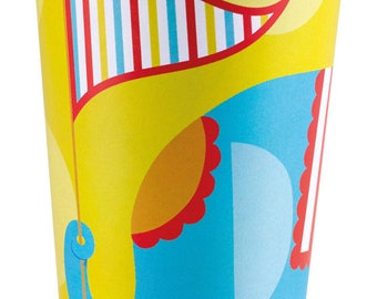 """Set of 8 """"Circus Party"""" 266 ml"""