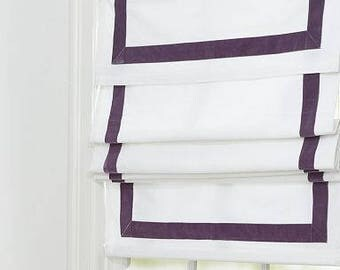 Flat Roman Shade with valance and Antique Satin Java