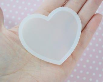 56mm BIG Heart Kawaii Decoden Flatback Silicone Resin Mold
