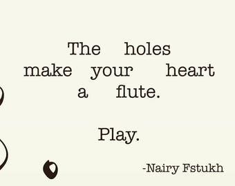 Poetry Print - Nairy Fstukh - The Instrument of poetry