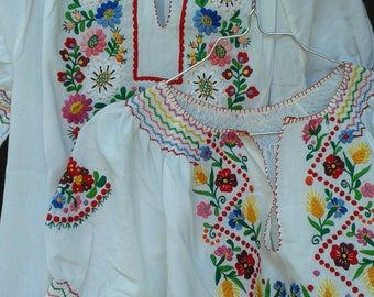 embroidered cotton shirt used