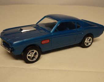 Processed Plastic Vintage 1960s Ford Mustang Mach I Toy Mustang, 1/25 Scale Car, Free Shipping