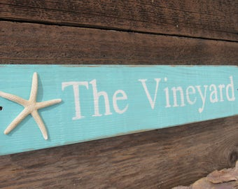 The Vineyard | Vineyard Wooden Sign | Reclaimed Wood Sign | Martha's Vineyard | The Vineyard Sign | Patio Decor| Travel Decor