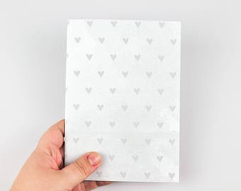 Gray Heart Patterned Midori Insert, Traveler's Notebook Insert, Planning Insert, Journal, Seven Sizes Available