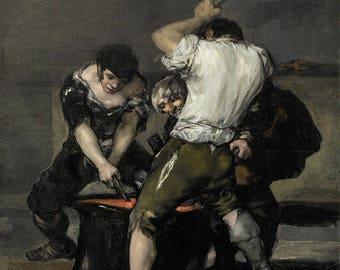Francisco de Goya: The Forge. Fine Art Print/Poster (004688)