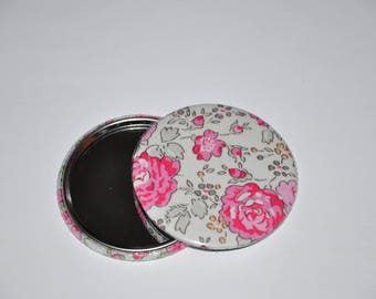 Mirror 59 mm fabric liberty of London Felicite pink 17