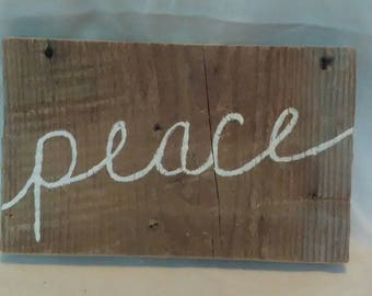 Rustic Hand Painted Peace Sign