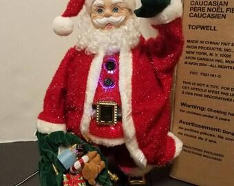 Vintage Avon Fiber Optic Santa