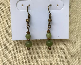 Serpentine Antique Gold Earrings