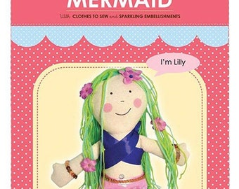 My Studio Girl: Dress-Up Doll Mermaid Lilly Sew Kit