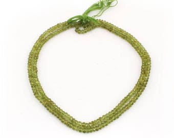 Valentines Day 1 Strand Finest Quality Peridot Faceted Rondelles - Roundel Beads 5mm 14 Inches  SB1663