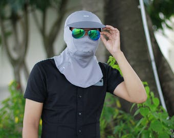 sun protection hat and mask UPF50+
