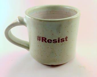 Chameleon Green #Resist Mug, Ready to Ship