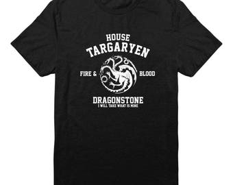 House Targaryen Tshirt Fire And Blood Shirt Dragonstone Shirt Game of Thrones Tee Tumblr Design Gift Funny Graphic Shirt Men Shirt Tee Women