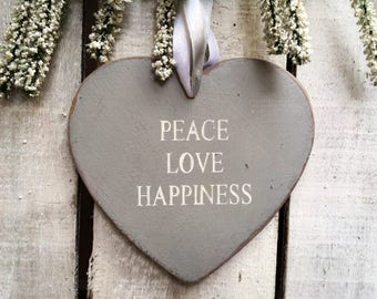 Sign. Peace Love Happiness. Heart Sign.