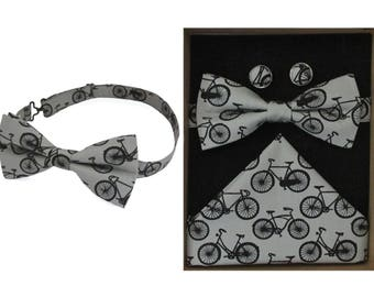 Bicycle Bow Tie & Boxed Gift Set