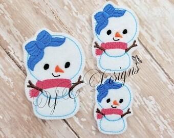 Bonhomme de neige bonhomme de neige Feltie Cutie Feltie broderie fichier