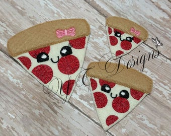 Pizza tranche Feltie tranche de Pizza Feltie Digial broderie fichier
