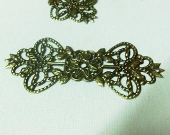 Bronze flower filigree pendant/connector