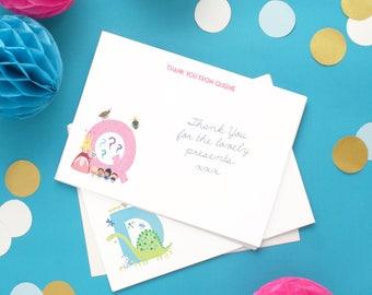 Personalised Alphabet Children's Thank You Cards -- Minimum order 8