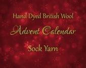 Yarn Advent Calendar - Hand Dyed British Wool 4ply Sock